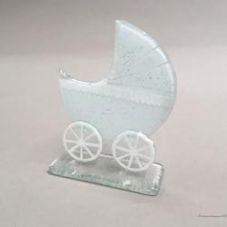 Figurka - Wózeczek dziecięcy - biały
