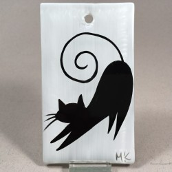 """Obrazek 7x12 - """"Czarny Kot"""""""
