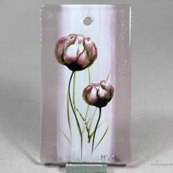 "Obrazek 7x12 - ""Maki różowe"""