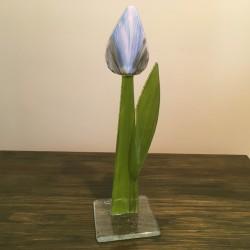 Szklany kwiat na podstawie 03 (ok 26cm)