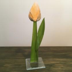 Szklany kwiat na podstawie 05 (ok 26cm)