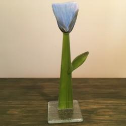 Szklany kwiat na podstawie 08 (ok 26cm)