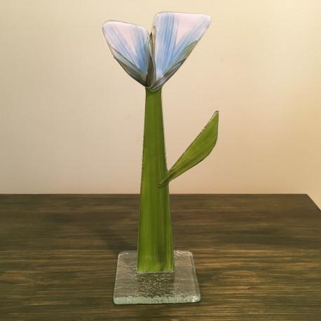 Szklany kwiat na podstawie 13 (ok 26cm)
