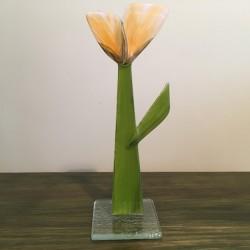 Szklany kwiat na podstawie 15 (ok 26cm)
