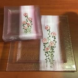 OUTLET - Zestaw paterek - Różowe różyczki